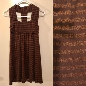 NWT Gold Sparkle Striped Dress Vava Joy Han Small